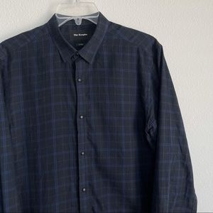 The Kooples Button Clip Down Checkered LS Shirt